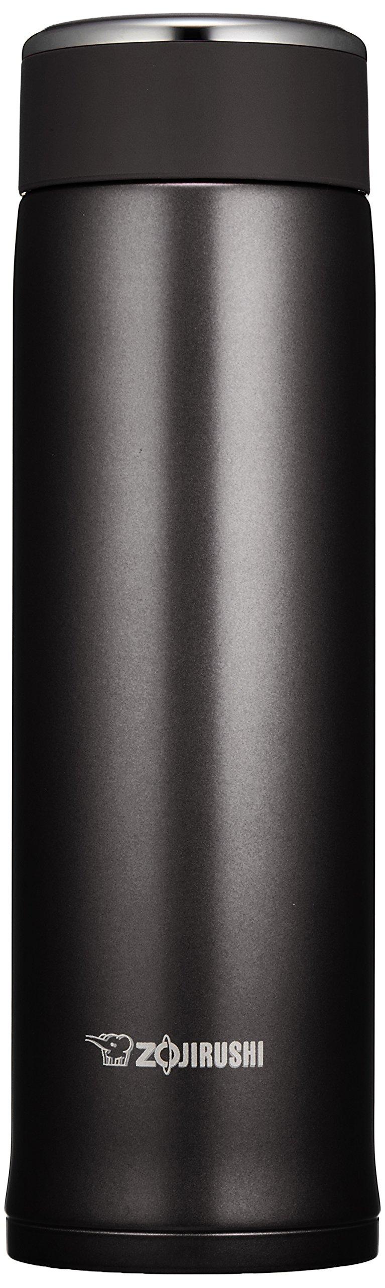 象印(ZOJIRUSHI) 水筒 直飲み ステンレスマグ 480ml マットブラック SM-LB48-BZ