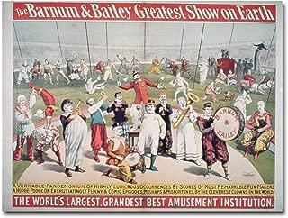 Barnum and Bailey Greatest Show on Earth, 35x47-Inch Canvas Wall Art