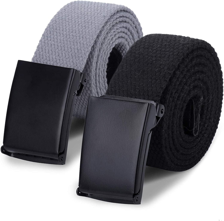 AWAYTR Boys Canvas Free shipping on posting reviews Web Belts - 2PCS School Cotton Popular popular Strap Uniform