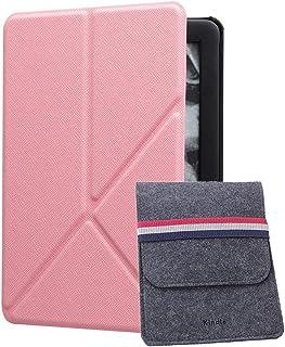 Capa para o novo Kindle 10ª geração versão 2019, capa fina de origami em pé serve para o novo Kindle 2019, conjunto de 2 p...