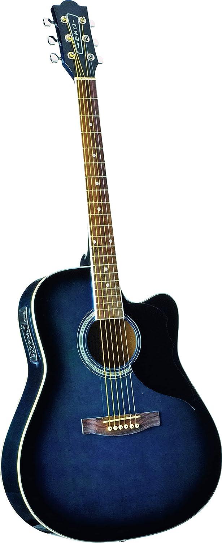 EKO Ranger CW EQ Blue Sunburst - Guitarra acústica con ecualizador, color azul