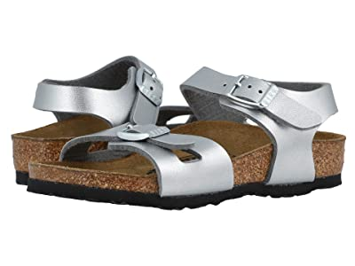 Birkenstock Kids Rio (Toddler/Little Kid/Big Kid) (Silver Birko-Flortm) Girls Shoes