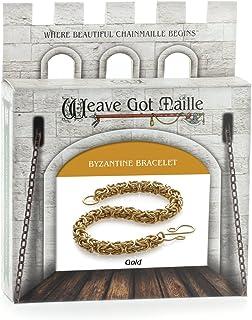 Weave Got Maille Byzantine Chain Maille Bracelet Kit, Gold