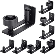 EaseLife Heavy Duty Sturdy Sliding Barn Door Floor Guide,Adjustable Roller,Wall Mount System,Flush Bottom Design,Floor and Door Panel Non-Damage,8 in 1 Install Setup,Fit All Size Door
