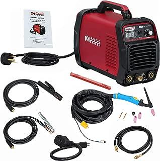 AMICO POWER ATIG1852018 TIG-185/180 Amp HF TIG Torch/Stick/Arc Welder 115 & 230V Dual Voltage Welding Machine, Red