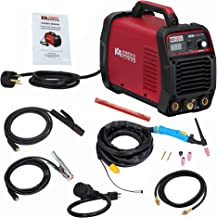 AMICO POWER ATIG1852018 TIG-185/180 Amp HF TIG Torch/Stick/Arc Welder 115 & 230V Dual Voltage Welding Machine, Red