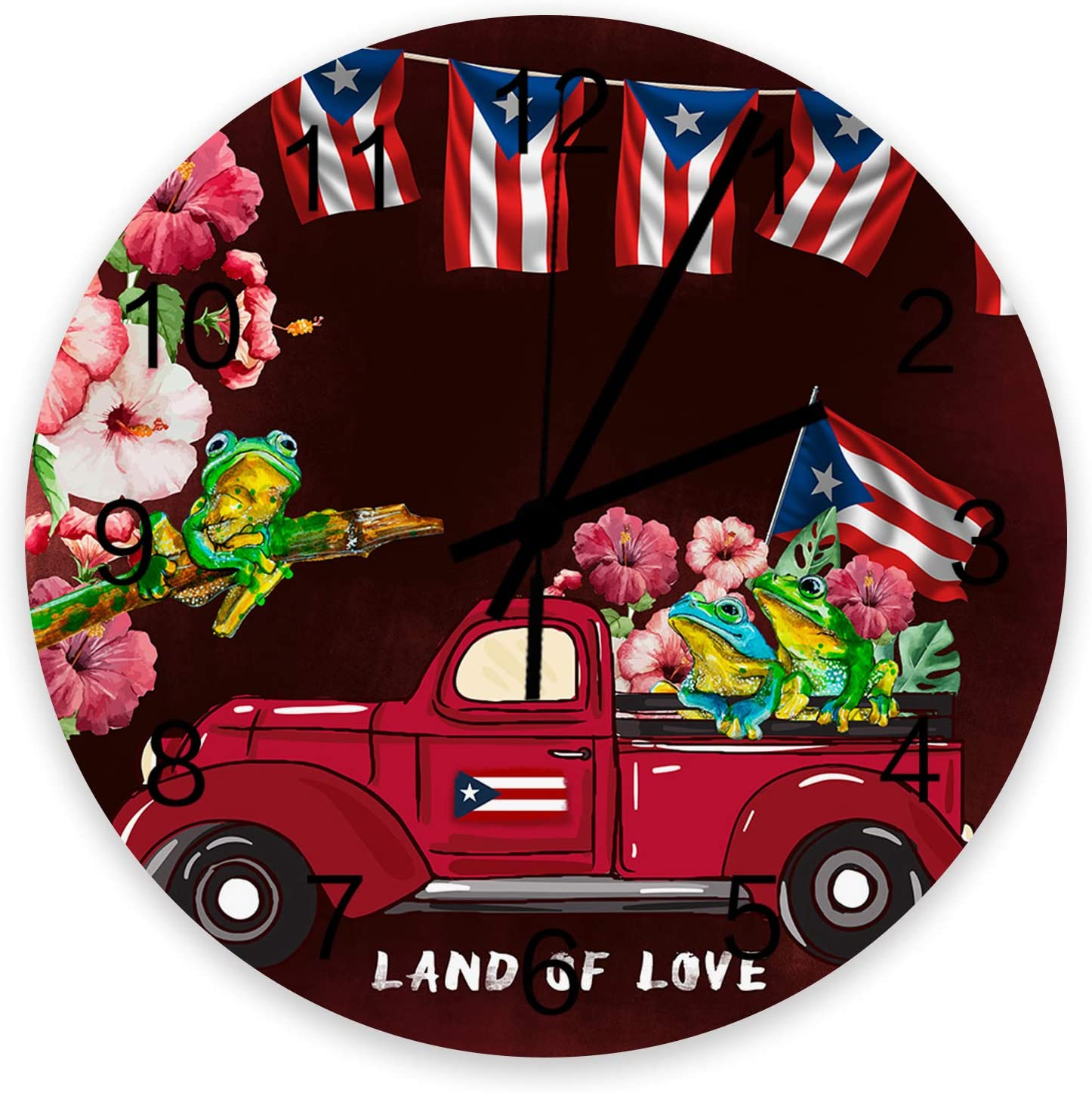 Roses Garden 12 Inch Wooden Wall Flag Excellent Rico Tru Puerto Red Clock Ranking TOP3
