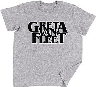 Greta Van Fleet (Rock Band) Bambini Ragazzi Ragazze Unisex Maglietta Grigio