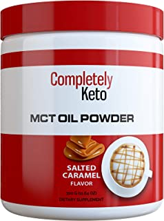 Speed Keto MCT Oil Powder from Fractionated Coconut C8 MCT Oil - Perfect Powdered MCT Keto Creamer for Coffee, Salted Caramel