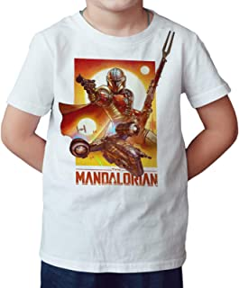 DibuNaif Camiseta Niño - Unisex Serie, The Mandalorian, El Mandaloriano