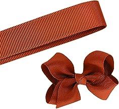 5 Yards Solid Rust Brown Grosgrain Ribbon Yardage DIY Crafts Bows Décor USA 1 1/2 Inch Width (5 Yards)