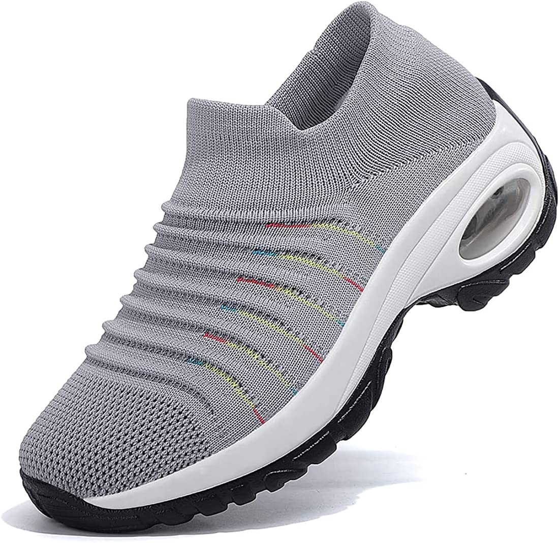 ejexef Women's Fashion Walking Shoes Slip On Sock Sneakers - Mesh, Breathable, Casual - Air Cushion Work Nursing Shoes