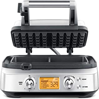 Sage 2 slice Waffle Maker with LCD display with one year distributor warranty, Silver