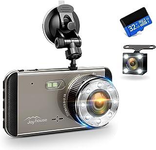 【2019年最新版&フルHD1296P】 ドライブレコーダー 前後カメラ 32GB SDカード付き デュアルドライブレコーダー 1800万画素 170°広視野角 G-sensor WDR ドラレコ 4.0インチモニター ループ録画 リアカメラ付き Joyhouse (トープ)
