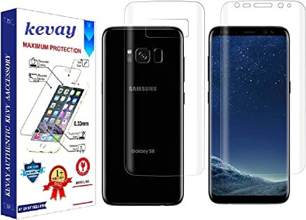 KEVAY Screen Guard for Samsung Galaxy S8 (Front-Back) with Installation Kit