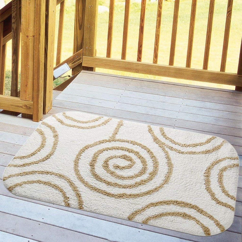 The Door Mats Doormat Living Room Bedroom Household Cotton Floor Mats Bathroom Toilet Water Absorption Non-Slip Feet