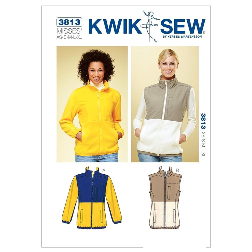 Kwik Sew K3813 Jacket and Vest Sewing Pattern, Size XS-S-M-L-XL