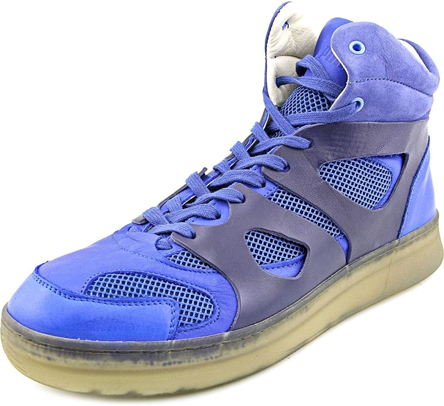 PUMA Mens MCQ Move Mid Alexander McQueen bluee Leather Athletic Sneakers