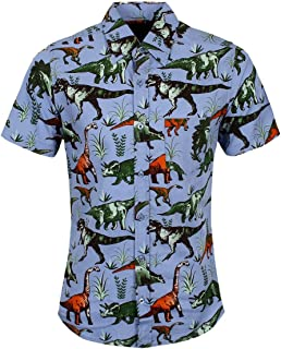 Run & Fly Men's Retro Dinomite Adventure Short Sleeve Shirt