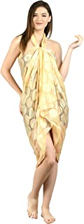 Amazon.in: Yellows - Beach Coverups, Kaftans & Sarongs / Swim & Beachwear:  Clothing & Accessories