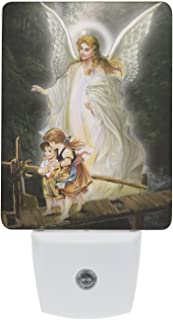 Saints Collection Unique Guardian Angel Plug In LED Night Light with Automatic Dusk to Dawn Sensor, Devotional Night Light, Religious Gift Idea for Friends and Family