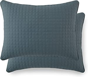 """Southshore Fine Linens - VILANO Springs - Pair of Quilted Pillow Sham Covers (No Inserts), 20"""" x 26"""", Teal"""