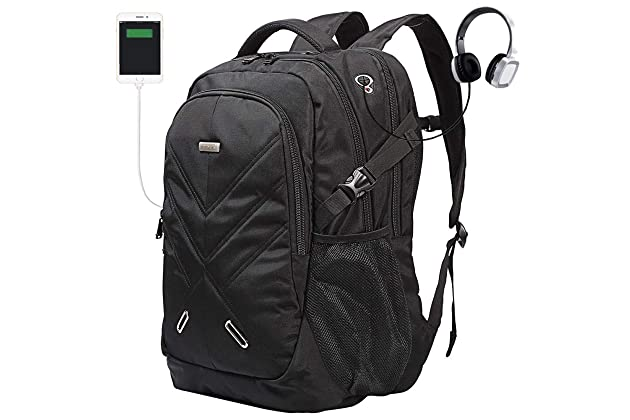 c0c12b79b603 Backpack for Laptops Up to 18.4 Inch Hiking Backpack Water Resistant Travel  Computer Backpack Shockproof Laptop Backpack with USB Charging Port and ...