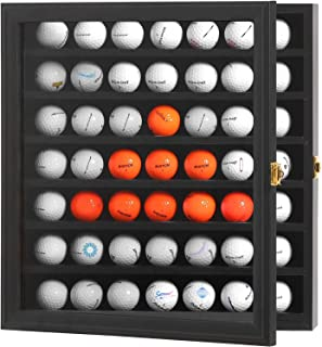 PKaL 49 Golf Ball Display Case - Golf Ball Holder Wall Mount, Golf Ball Display Rack, Golf Ball Display Cabinet with 98% U...