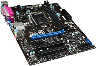 MSI B85M-P32 LGA1150 Intel B85 Micro-ATX Motherboard (2X DDR3, 4X USB 3, 6X USB 2, GBE, LAN, DP, HDMI, DVI)