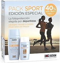 Fotoprotector ISDIN Pack Fusion Water SPF 50 y Fusion Gel SPORT SPF 50+, Pack Protección Solar Facial y Corporal