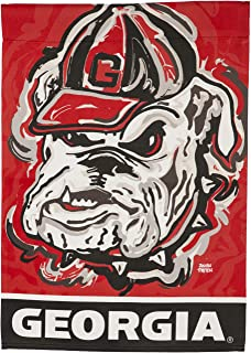 Team Sports America University of Georgia, Embossed Suede Indoor Outdoor Flag Justin Patten