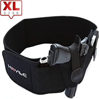 KAYLLE XL Belly Band Holster for Concealed Carry - Neoprene Elastic Inside Waistband Gun Holster for Women & Men - Fits Up 45'' to 55