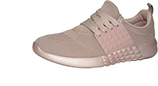 ROXY ROSE Women Slip On Breathable Sneakers Ultra Lightweight Mesh Sports Walking Shoes with Shinning String Shoelaces