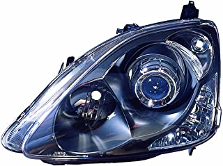 Depo 317-1145PXAS2 Honda Civic Hatch Back Black Headlight Projector Assembly Set (Left and Right)
