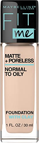 Maybelline Fit Me Matte and Poreless Mattifying Liquid Foundation - Classic Ivory 120, 30ml