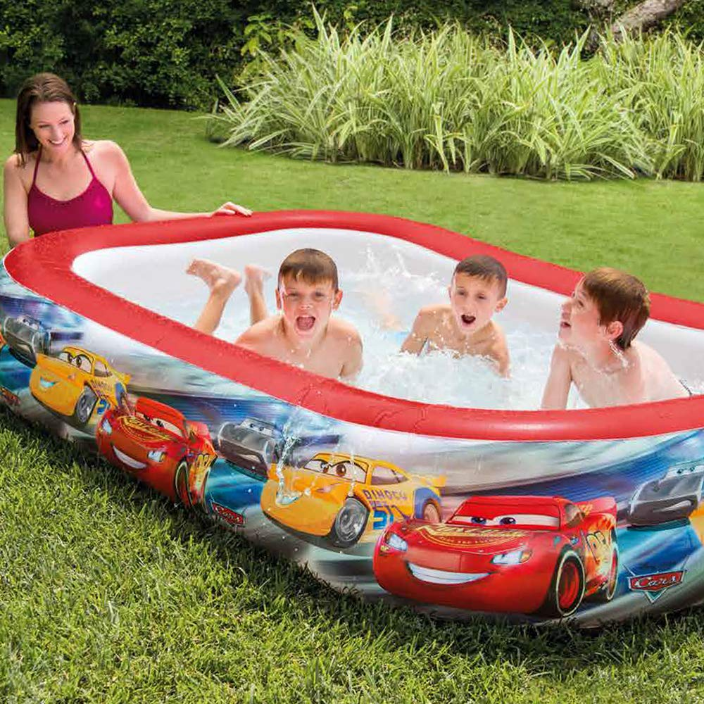 Intex 57478NP - Piscina hinchable licencia Cars 262 x 175 x 56 cm, 770 litros: Amazon.es: Jardín