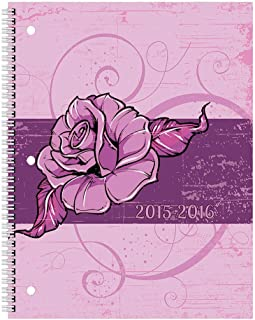 Brownline Monthly Academic Planner, 14 Months - July 2015 to August 2016, English, Assorted Bloom Designs, 11-Inch by 8-1/2-Inch (Ca701pt.asx-2016)