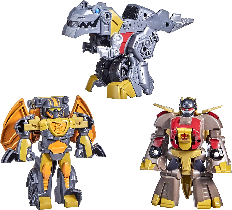 Transformers Dinobot Adventures Squad Grimlock, Snarl, and...