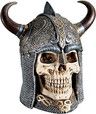 Design Toscano CL2861  Daimer: The Celtic Skull Warrior Sculpture,Full Color