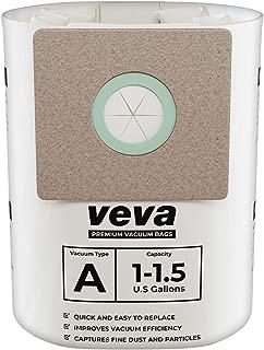 VEVA 30 Pack Premium Vacuum Filter Bags Type A 9066700 Work with Shop Vac 1.5 Gallon Vacuum and 1 Gallon Micro Vacs, Part # SV ShopVac Shop-vac 90667