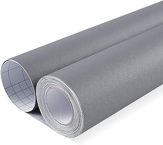 HOMFA Pintado Papel de Pared PVC Extra Grueso Impermeable para Pared Muebles de Cocina Dormitorios y Salón Pintado Pegatina Pared Autoadhesivo Gris 10x0.41M