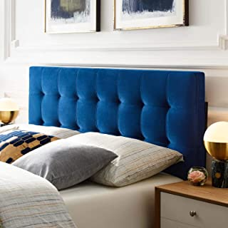 Modway Lily King Biscuit Tufted Performance Velvet Headboard, Navy