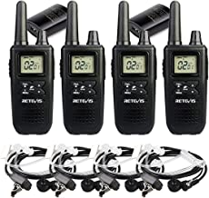 Retevis RT41 Walkie Talkies for Adults NOAA Rechargeable FRS Radios VOX 121 Privacy Codes 10 Call Alert LCD Security 2 Way Radio with Headset (4 Pack)