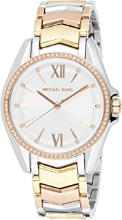 Michael Kors Whitney Women's White Dial Stainless Steel Analog Watch - MK6686