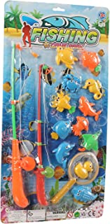 Feilun Toys Fishing Toy for Kids, 15 Pieces - Multi Color