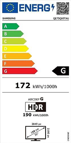 Eficiencia energética Samsung QLED 4K 75Q60T