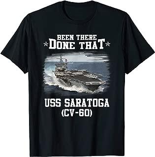 CV-60 USS SARATOGA T-Shirt Navy Ships Tee