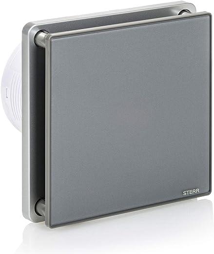 STERR – Grau Badezimmerlüfter mit Glasfront – BFS100-G