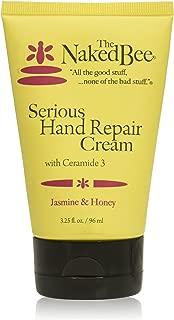 The Naked Bee Jasmine And Honey Serious Hand Repair Cream, 3.25 Ounce