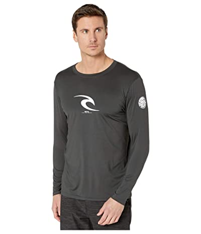 Rip Curl Icon Relaxed Long Sleeve Rashguard (Black Marle) Men